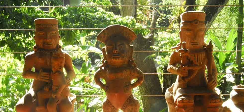 Old statues from the indigenous tribes of Costa Rica