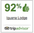 Ninety percent reviewers like Iguana Lodge on Trip Advisor