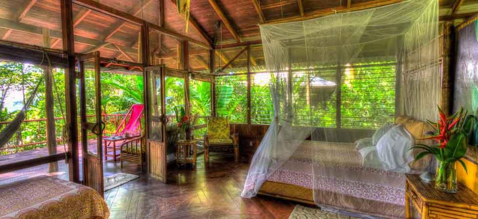 upstairs bedroom - luxury casita at Iguana Lodge