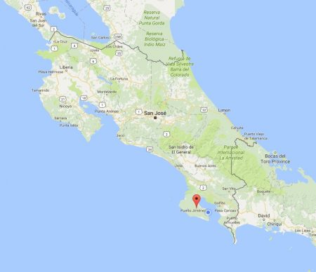 Map of Costa Rica by Google Maps