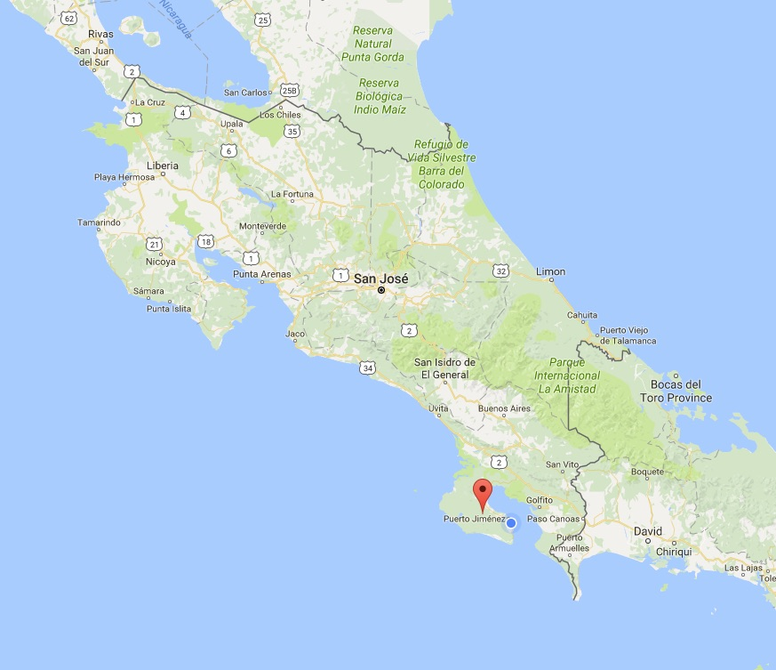 Osa Peninsula Google Maps | Iguana Lodge