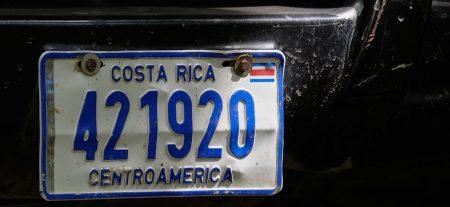 Costa Rica License Plate