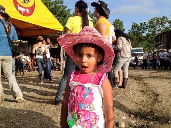 Little girl in Pink Cowboy Hat